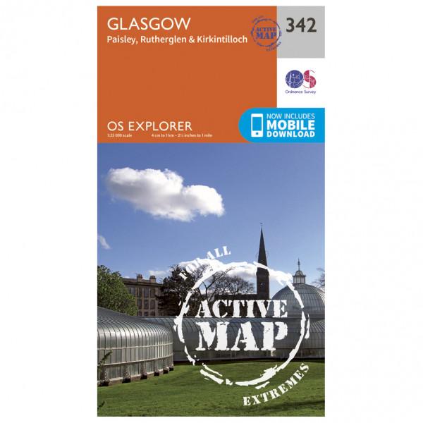 Ordnance Survey - Glasgow / Paisley / Rutherglen / Kirkintilloc Waterproof - Vandrekort