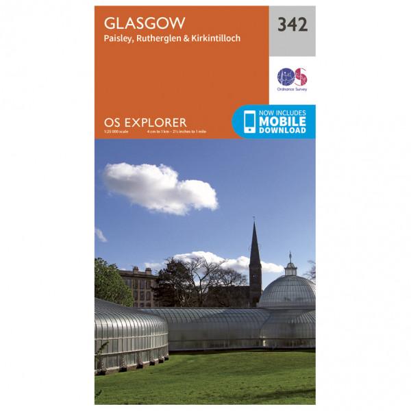 Ordnance Survey - Glasgow Explorer - Vandrekort