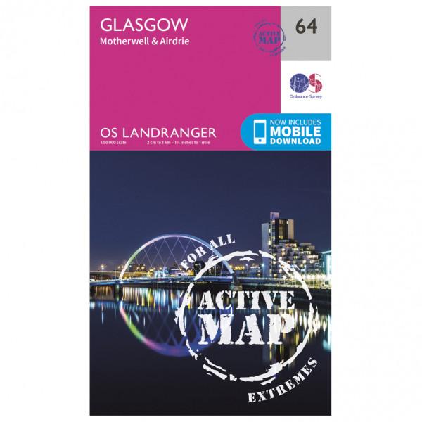Ordnance Survey - Glasgow Waterproof - Wanderkarte