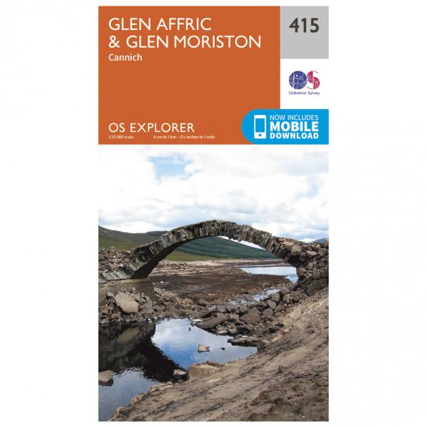 Ordnance Survey - Glen Affric / Glen Moriston - Vaelluskartat