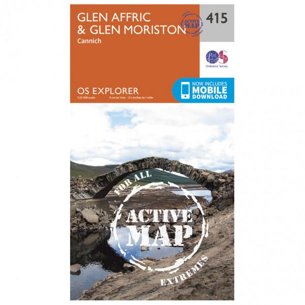 Ordnance Survey - Glen Affric / Glen Moriston Waterproof - Vaelluskartat