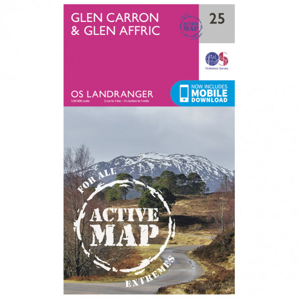 Ordnance Survey - Glen Carron / Glen Affric Waterproof - Wandelkaart