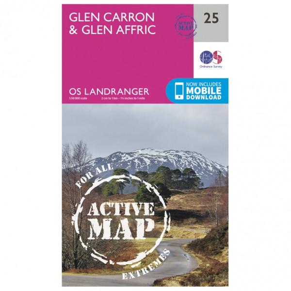 Ordnance Survey - Glen Carron / Glen Affric Waterproof - Wandelkaarten