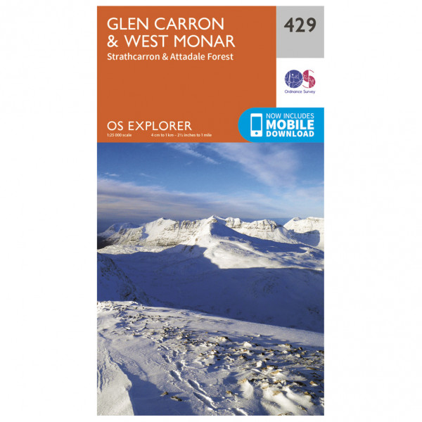 Ordnance Survey - Glen Carron / West Monar - Vandrekort