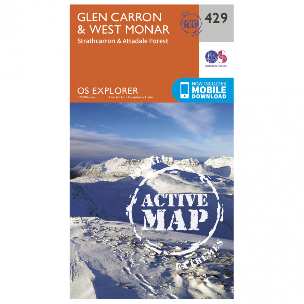 Ordnance Survey - Glen Carron / West Monar Waterproof - Hiking map