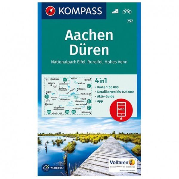 Kompass - Aachen, Düren, Nationalpark Eifel, Rureifel - Wanderkarte