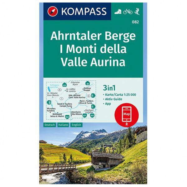 Kompass - Ahrntaler Berge, I Monti della Valle Aurina - Vandrekort