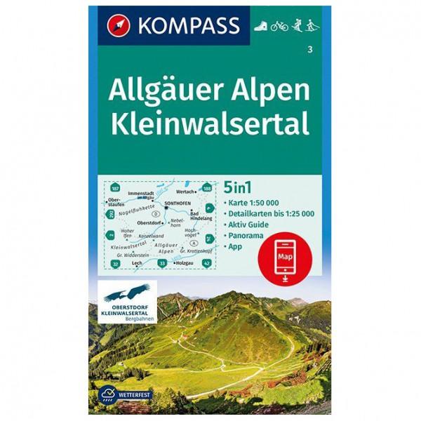 Kompass - Allgäuer Alpen, Kleinwalsertal - Vandringskartor