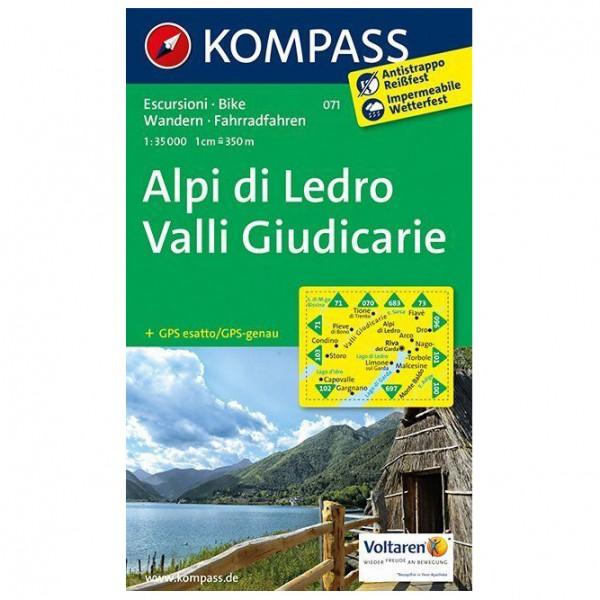 Kompass - Alpi di Ledro - Valli Giudicarie - Vandrekort
