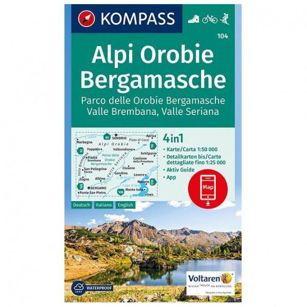 Kompass - Alpi Orobie Bergamasche - Vaelluskartat