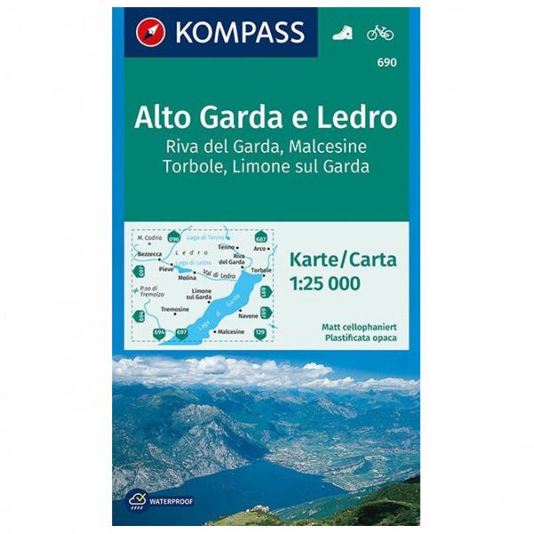 Kompass - Alto Garda e Ledro, Riva del Garda, Malcesine - Vandringskartor