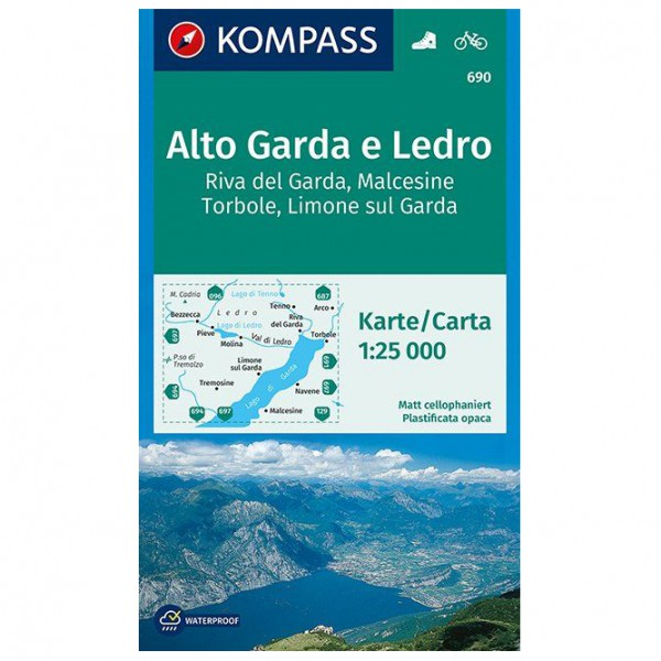 Kompass - Alto Garda e Ledro, Riva del Garda, Malcesine - Hiking map