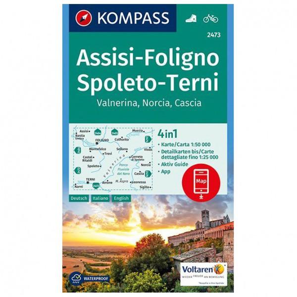 Assisi, Foligno, Spoleto, Terni, Valnerina - Hiking map