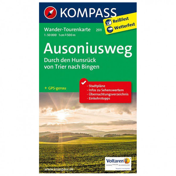 Ausoniusweg - Hiking map