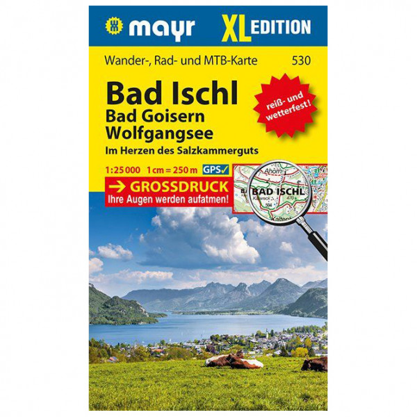 Bad Ischl - Bad Goisern - Wolfgangsee XL - Hiking map