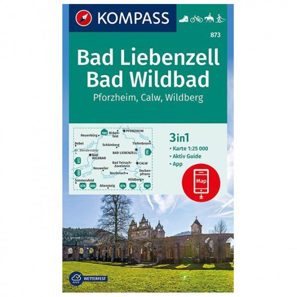 Bad Liebenzell, Bad Wildbad - Hiking map