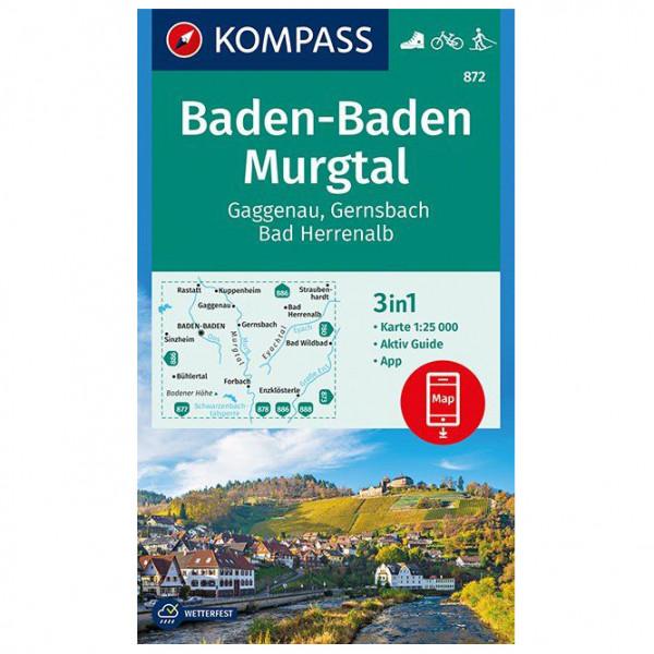 Kompass - Baden-Baden, Murgtal, Gaggenau, Gernsbach - Vandringskartor