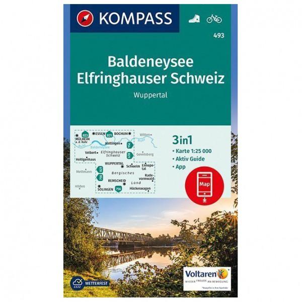 Kompass - Baldeneysee, Elfringhauser Schweiz, Wuppertal - Mapa de senderos