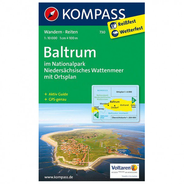 Kompass - Baltrum im Nationalpark - Vaelluskartat