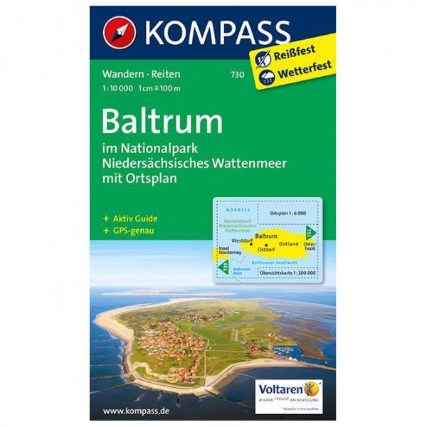 Kompass - Baltrum im Nationalpark - Wanderkarte