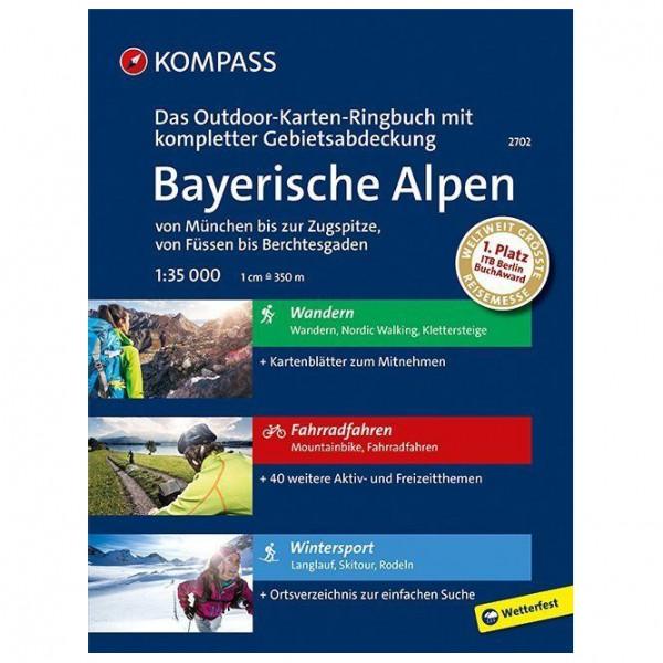 Kompass - Bayerische Alpen - von München bis zur Zugspitze - Vandrekort