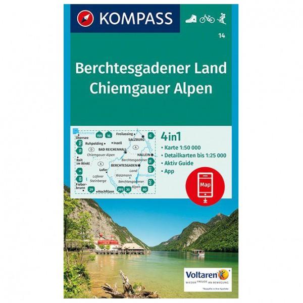 Kompass - Berchtesgadener Land, Chiemgauer Alpen - Vandrekort