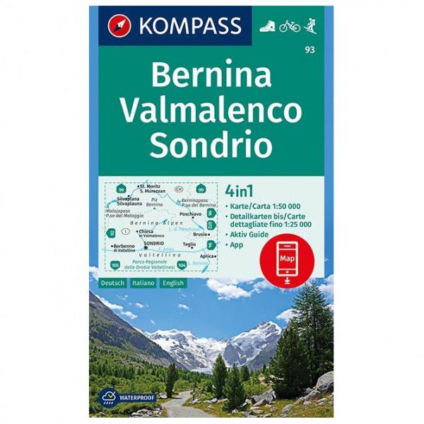 Kompass - Bernina, Valmalenco, Sondrio - Wandelkaarten
