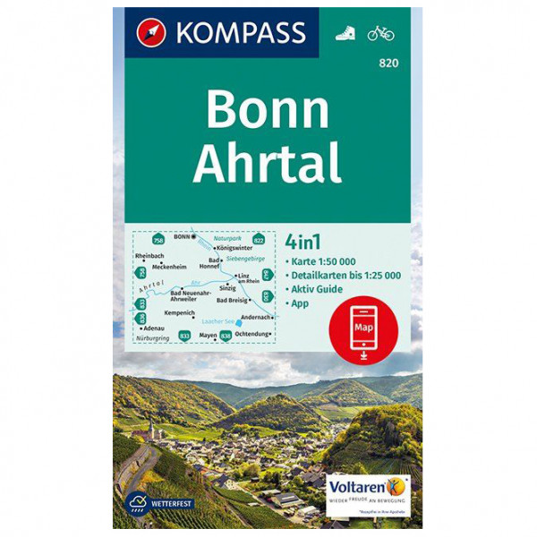 Kompass - Bonn, Ahrtal - Wandelkaarten
