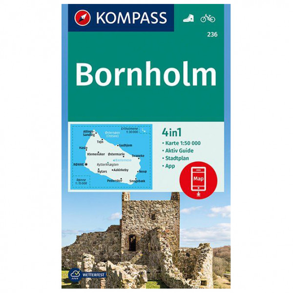 Kompass - Bornholm - Vandrekort