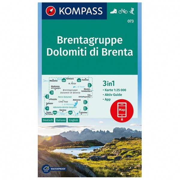 Kompass - Brentagruppe, Dolomiti di Brenta - Hiking map