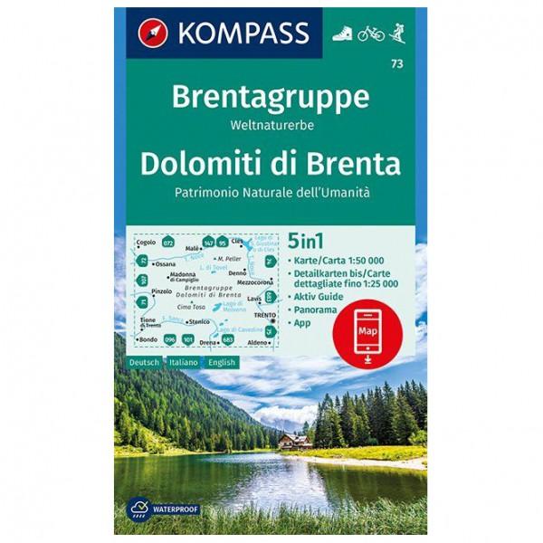 Kompass - Brentagruppe, Weltnaturerbe, Dolomiti di Brenta - Vandrekort