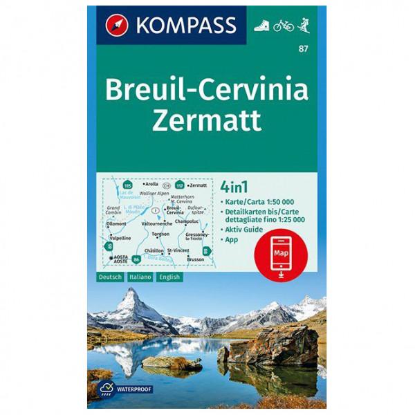 Breuil-Cervinia, Zermatt - Hiking map