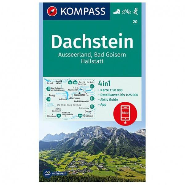 Kompass - Dachstein, Ausseerland, Bad Goisern, Hallstatt - Vandrekort