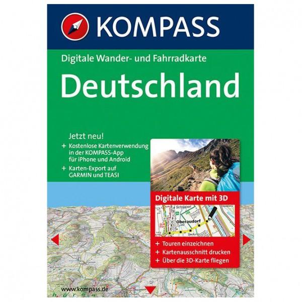 Kompass - Deutschland 3D - Wanderkarte