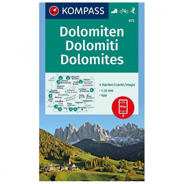Kompass - Dolomiten, Dolomites, Dolomiti - Wanderkarte