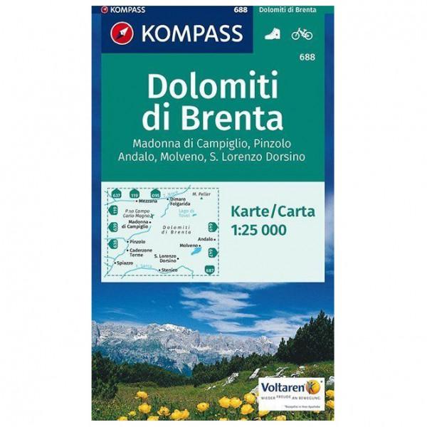 Kompass - Dolomiti di Brenta - Wandelkaarten