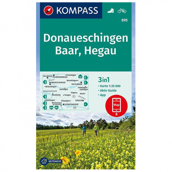 Kompass - Donaueschingen, Baar, Hegau - Hiking map