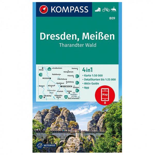 Kompass - Dresden, Meißen, Tharandter Wald - Hiking map