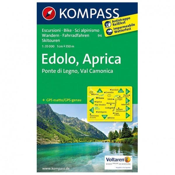 Kompass - Edolo - Aprica - Ponte di Legno - Val Camonica - Vaelluskartat