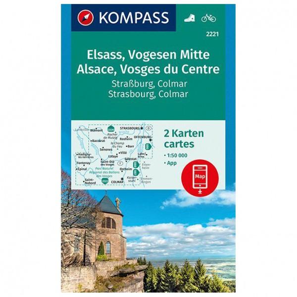 Kompass - Elsass, Vogesen Mitte, Alsace, Vosges du Centre - Vandrekort