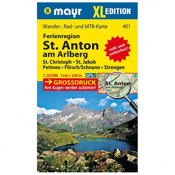 Kompass - Ferienregion St. Anton am Arlberg XL - Wandelkaarten
