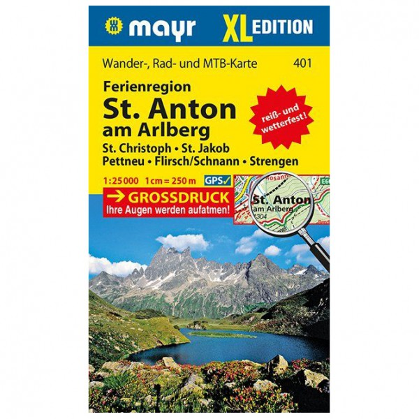 Kompass - Ferienregion St. Anton am Arlberg XL - Vaelluskartat