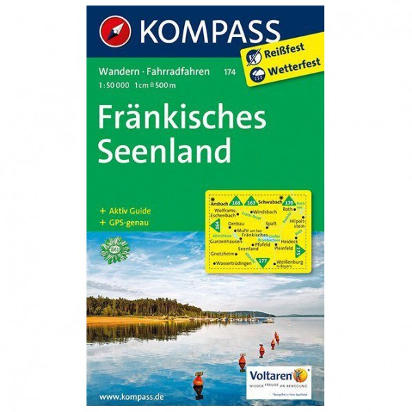 Kompass - Fränkisches Seenland - Wanderkarte