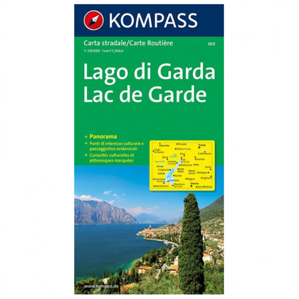 Kompass - Gardasee - Lago di Garda - Vandrekort