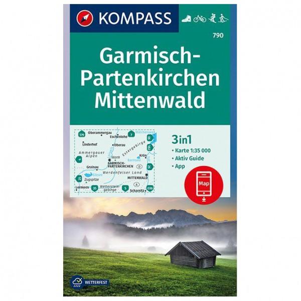 Kompass - Garmisch-Partenkirchen, Mittenwald - Mapa de senderos