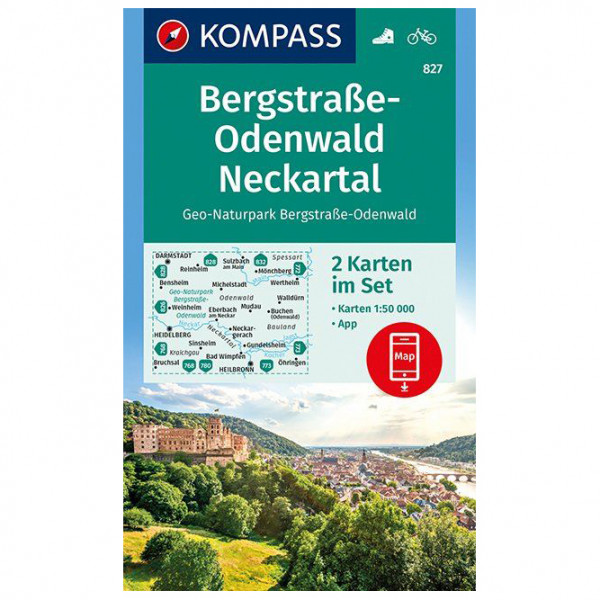 Kompass - Geo-Naturpark Bergstraße-Odenwald - Wandelkaart