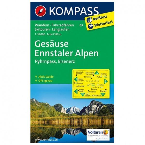 Kompass - Gesäuse - Ennstaler Alpen - Pyhrnpass - Eisenerz - Wandelkaart