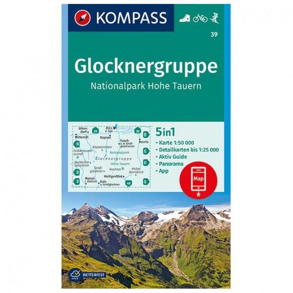 Kompass - Glocknergruppe, Nationalpark Hohe Tauern - Vaelluskartat