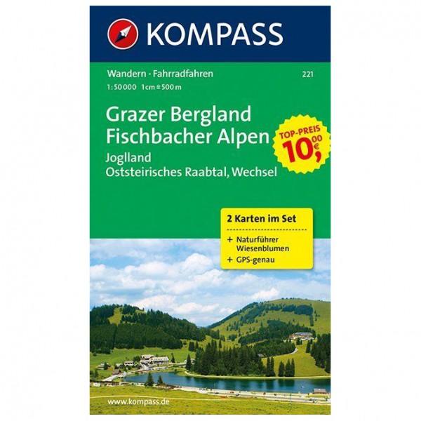 Kompass - Grazer Bergland - Fischbacher Alpen - Carte de randonnée