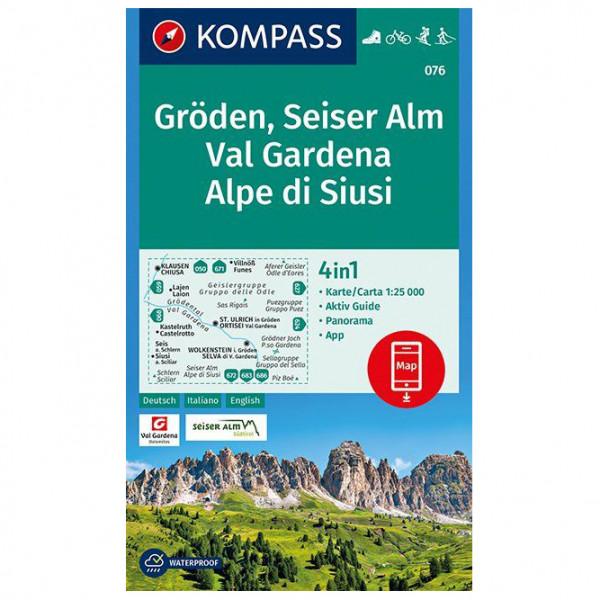Kompass - Gröden, Seiser Alm, Val Gardena, Alpe di Siusi - Wandelkaarten